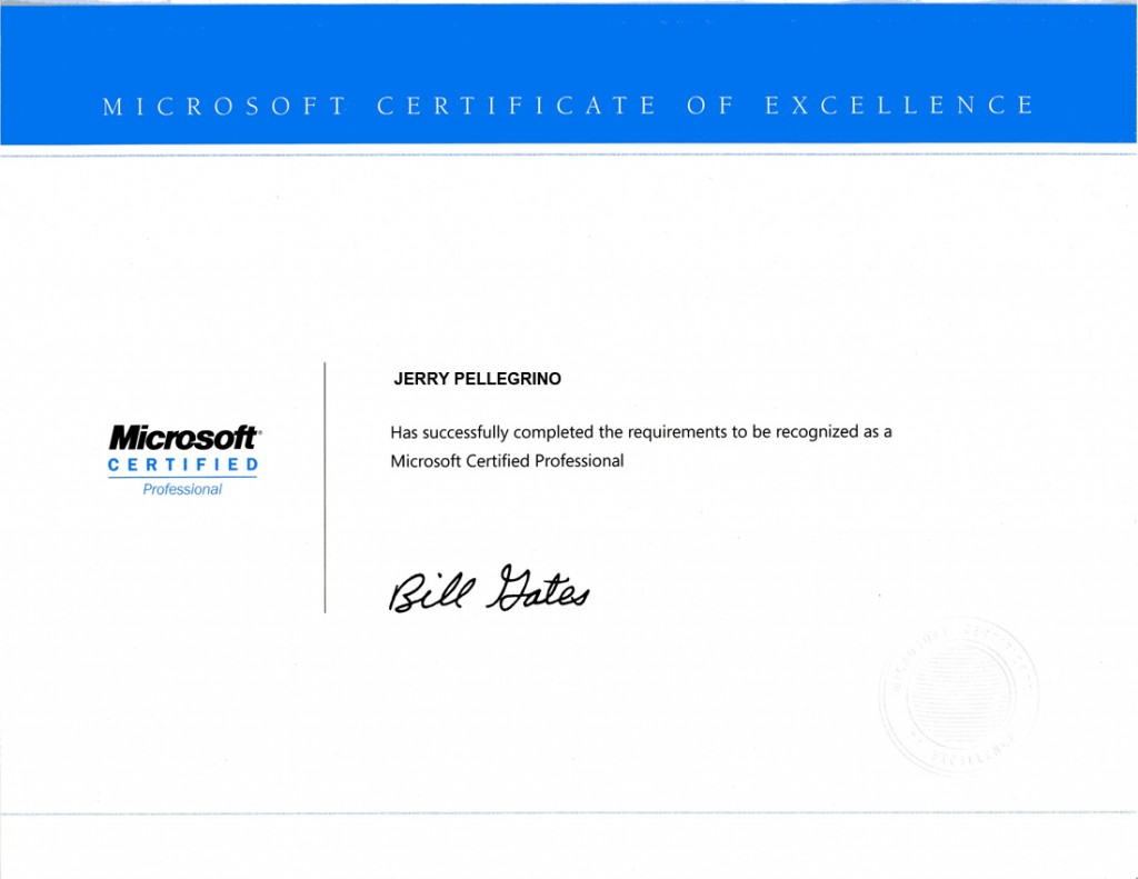 Jerry pellegrino microsoft certified professional discovery jerry pellegrino microsoft certified professional xflitez Choice Image